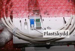 Plastskydd-fibertray
