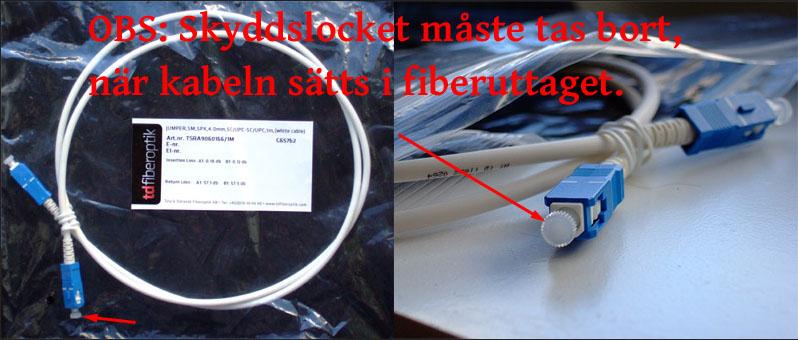 fiberpatchkabel med skyddslock